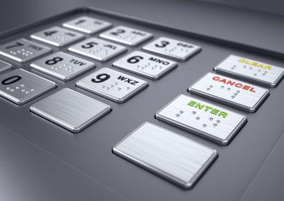 Closeup ATM Keypad