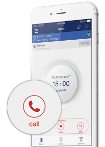 phone view with screen of safebanker app